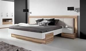 Lit Bois Massif Design : lit design white lit 2 places pas cher en bois massif pour adulte lit moderne ~ Teatrodelosmanantiales.com Idées de Décoration