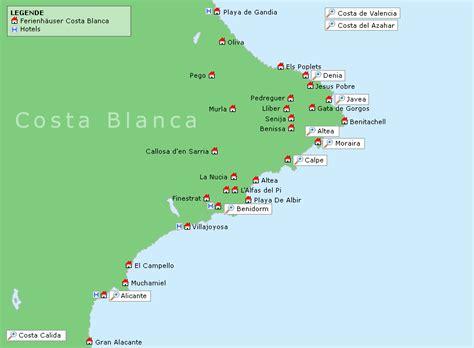 Costa Blanca Karte