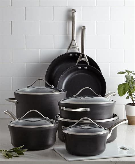 calphalon contemporary nonstick  pc cookware set reviews cookware kitchen macys
