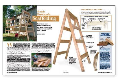 simple homemade scaffolding safe    inexpensive