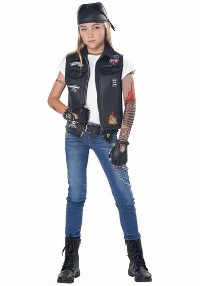 Biker Costume Vest Kid Cool Child Alt