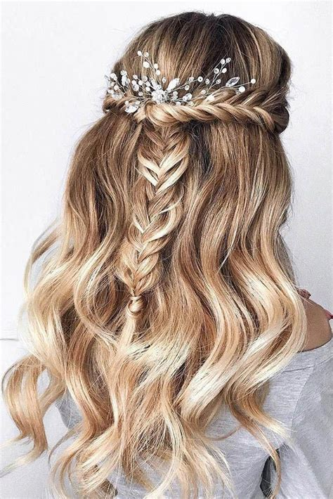 Hairstyles For With Braids by Wedding Hairstyles Half Up Half With Curls And Braid