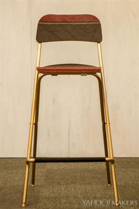 ikea bar stool hack turn a simple ikea stool into a wow worthy designer perch beautiful places and leather scraps