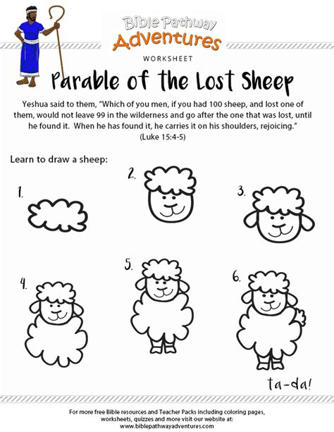 parable of the lost sheep worksheet children s church 804 | 9393bed44e9c4aaca42c7f58d6c85aaf