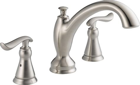 Delta Linden Tub Faucet by Delta T2794 Ss Linden Tub Faucet Trim In Stainless