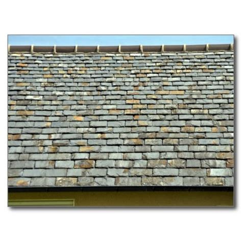 vintage slate roof tiles with clay tile ridge exterior