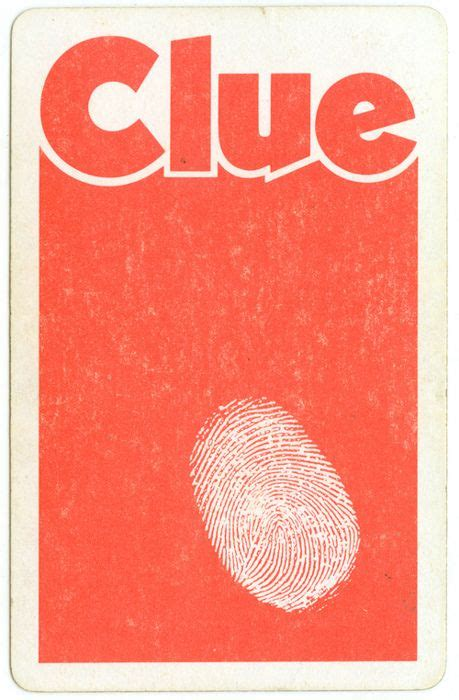 clue card     find  place  work
