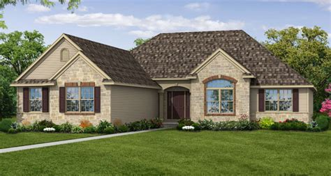 wayne homes introduces  ranch style model home  akron