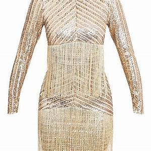 Shop Gold Fringe Dress on Wanelo