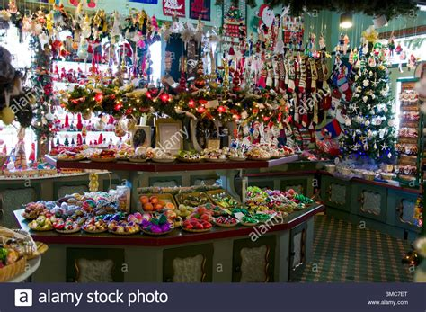 christmas ornament and decoration store in solvang california usa stock photo royalty free