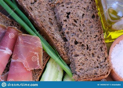 Sandwich With Dried Red Meat Fotografering för Bildbyråer ...