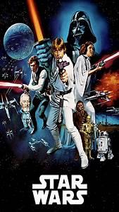 Poster Star Wars : star wars movie poster wallpaper wallpapersafari ~ Melissatoandfro.com Idées de Décoration
