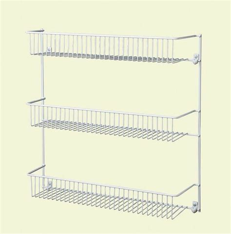 Closetmaid Spice Rack by Closetmaid Steel 18 In 3 Tier Wall Pantry Storage Shelves