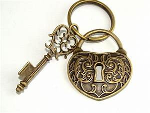 Key to My Heart Heart Lock and Skeleton Key by ...