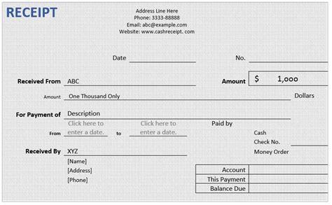 cash receipt word template microsoft word templates