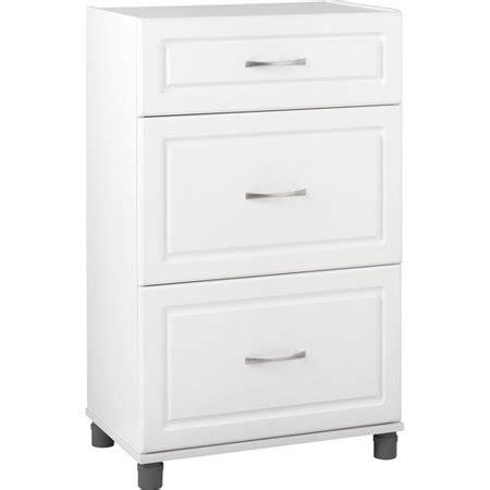 walmart storage drawers systembuild 24 quot 3 drawer base cabinet white walmart
