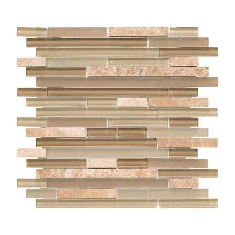jeffrey court glass mosaic tile jeffrey court country winds pencil 12 in x 12 in x 8 mm