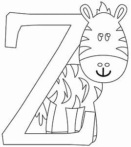 Z is for Zebra coloring page - coloring.com