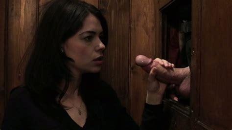 Sassy brunette harlot Ava Dalush fucks a priest in the confessional