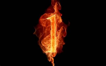 Fiery Numbers Letters Realistic Designer