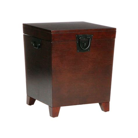 Home Decorators Collection Pyramid Espresso Trunk End