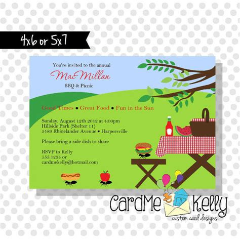 printable summer picnic family reunion park grilling party