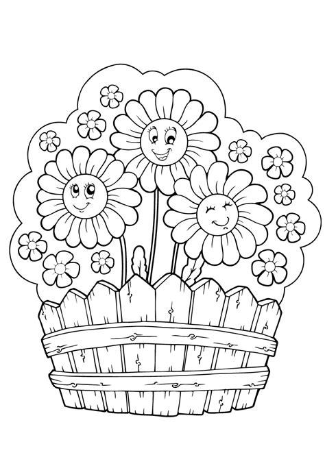 kleurplaat bloemen  superleuke gratis kleurplaten bloemen