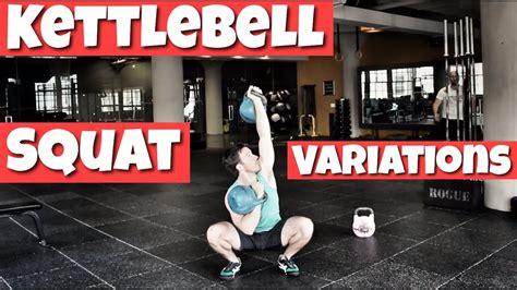 squat variations kettlebell improve