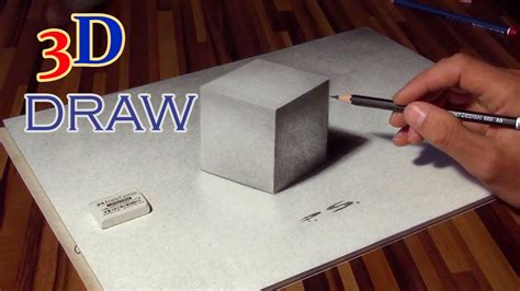 drawing   cube   optical illusion anamorphic