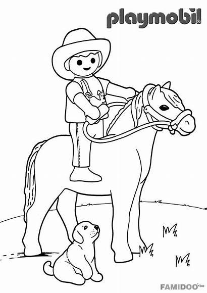 Playmobil Coloriage Cowboy