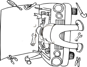 mechanic clipart black and white royalty free mechanic clipart