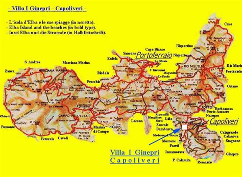 Elba Italien Karte