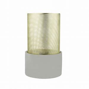 Contemporary grey table lamp with mesh gold shade diffuser for Gold mesh floor lamp