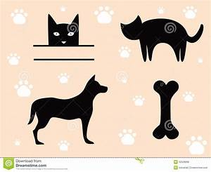 Pets Cat and Dog - Signs. stock vector. Image of graphic ...