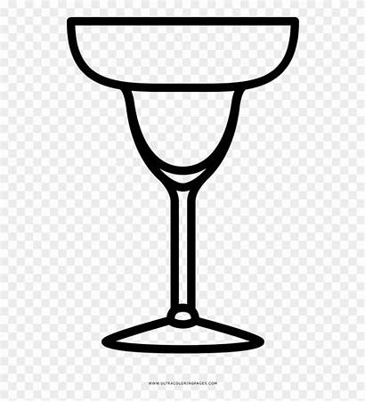 Margarita Glass Clipart Clip Glasses Coloring Lime