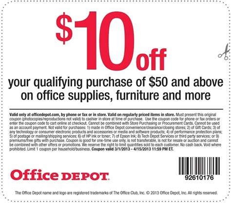 Office Depot Coupons Printable 2015 by Home Depot Coupon Code 10 Sitewide Insured By Ross