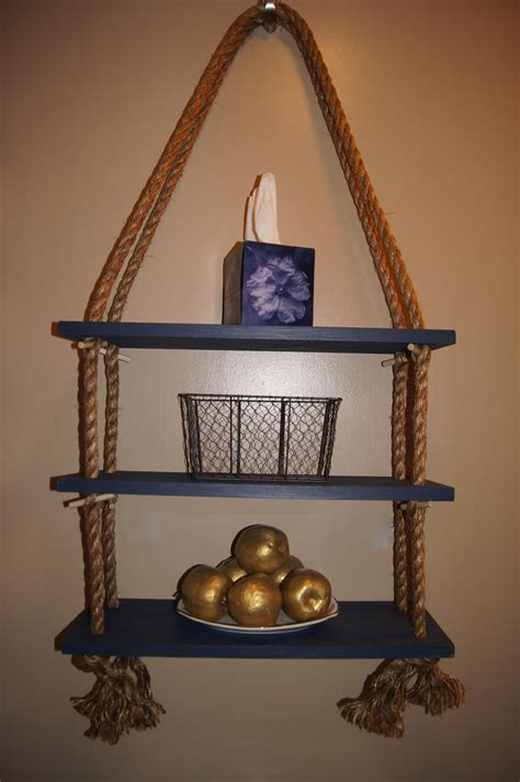 Home Depot Decorative Rope Shelf by Apartment D 233 Cor Diy Nautical Rope Shelf My Apartment