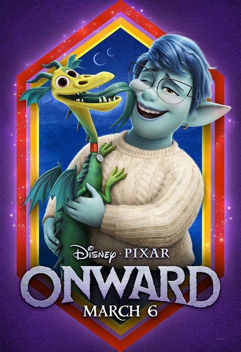 disney debuts  onward trailer character posters