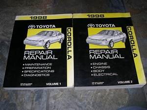 1998 Toyota Corolla Service Manual Shop Repair Factory
