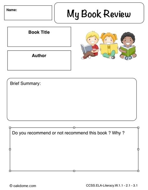 Ipad Graphic Organizer My Book Review  Plain (ipad Pages