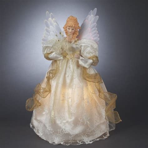untitled blue fiber optic angel tree topper