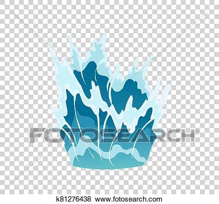 When it comes to animation, svg and gsap go together like peanut butter and jelly. Vector frame water splash for game animation. Water ...