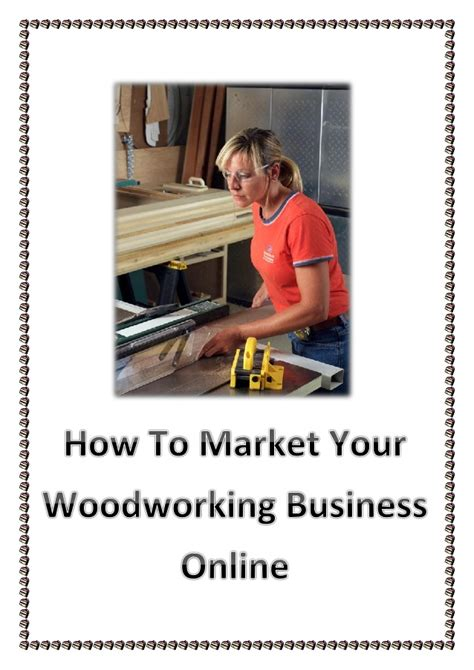 market  woodworking business