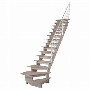 Escalier Quart Tournant Bas Droit Auvergne Structure Bois