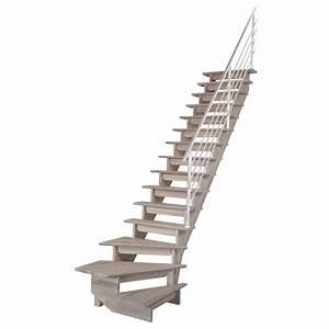 Escalier Droit Bois : escalier quart tournant bas droit auvergne structure bois ~ Premium-room.com Idées de Décoration