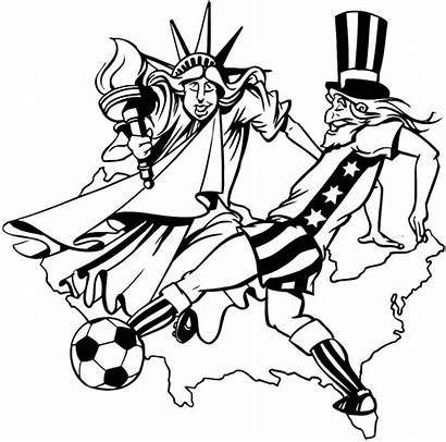 Liberty Statue Easy Drawing Soccer Sports Uncle