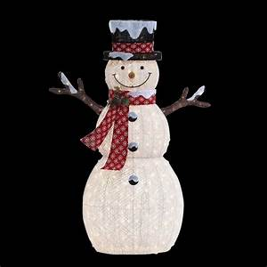 Home Accents Holiday 6 ft Pre-Lit Big Snowman-TY608-1511