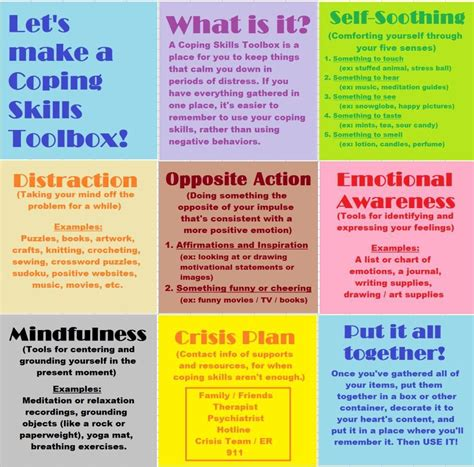 Coping Skills Toolbox  מיומניות חברתיות  Pinterest  Coping Skills, Counseling And Therapy