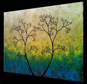 Buy a Custom Original Abstract Tree Painting, Green ...