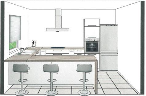 plan cuisine en  avec bar atwebsterfr maison  mobilier